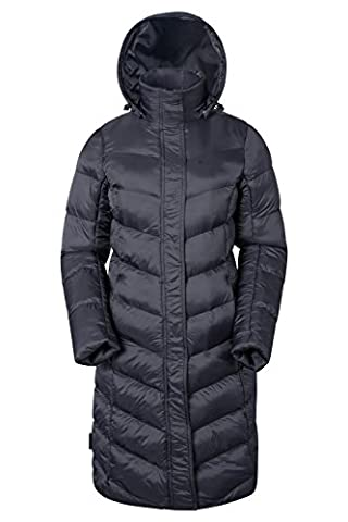 Mountain Warehouse Alexa Women's Padded Jacket - Water-Resistant, Lightweight, Storm Flap, Microfiber Filler, Detachable & Adjustable Hood with Two Front Pockets Black 16