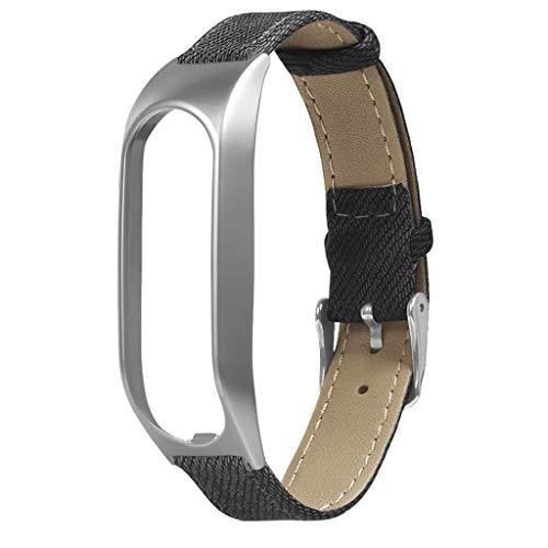 Für Tomtom Touch Armband,Denim Armbänder Uhrenarmbänder kompatibel Metallgehäuse Schnellspanner SmartWatch Schlaufe Uhrenarmband Smartwatch Ersatzarmband (Grau)