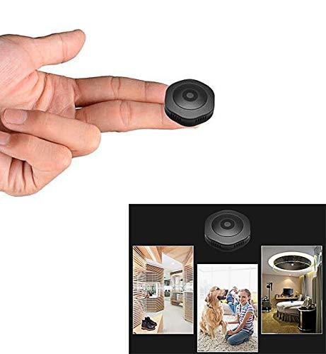 Wujiu 1080p mini spy camera, wifi hidden cam visore notturno hd senza fili con telecamera di sorveglianza di rilevamento del movimento, adatto per la sicurezza dei bambini anziani