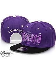"""Midi Shopping - Casquette Snapback Pas Cher Cap Hat Flatbrim """"Chicago"""" CAP 20CHI"""