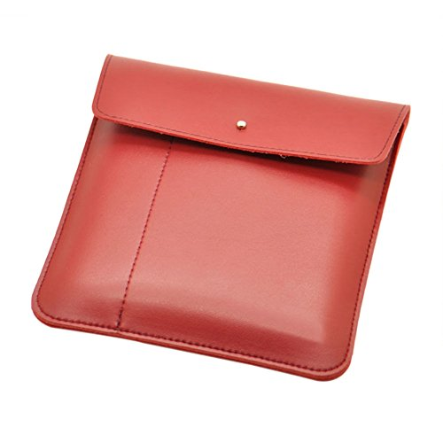 """Hzjundasi Ledertasche Cover Sleeve Tasche Box Pouch für 7"""" All New Amazon Kindle Oasis 2017 9th Generation (Rot)"""