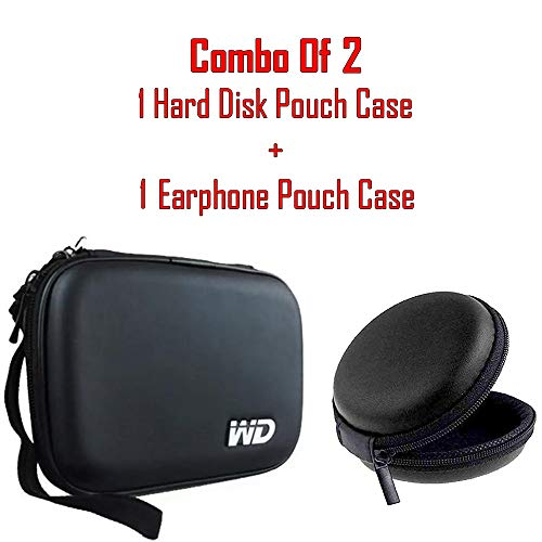 HilGar Hard Disk Drive Pouch case for 2.5  HDD/Power Bank Cover WD Seagate Slim Sony Dell Toshiba  Combo