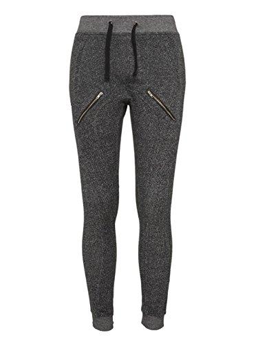Urban Classics Femme Zipped Melange Sweatpants noir/gris