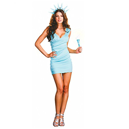 Dreamgirl Kostüm Statue of Liberty Kleid türkis Freiheitsstatur Amerika Karneval (M)