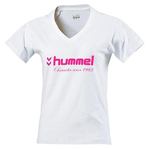 Hummel UH-Maglietta maniche corte da donna bianco