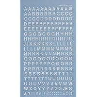 Transferencias de letras blancas–6mm–1hoja