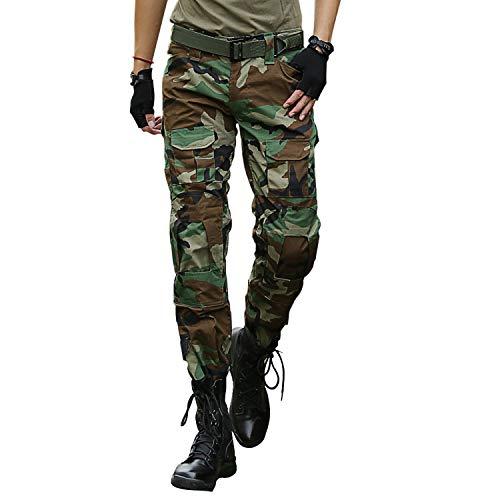 ec207d4d31 LHHMZ Pantaloni da Combattimento Tattici Militari da Uomo Pantaloni Neri  mimetici da Avventura all'Aria
