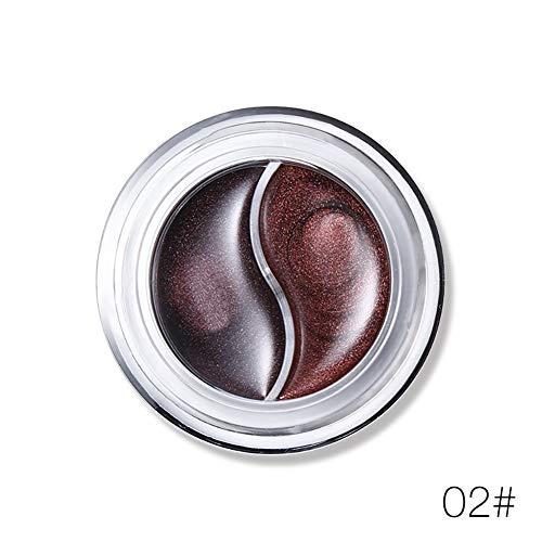 2 Farben Pro Gel Eyeliner Set Wasserdicht Wisch Eyeliner Last Für Den Ganzen Tag Augen Kosmetik...