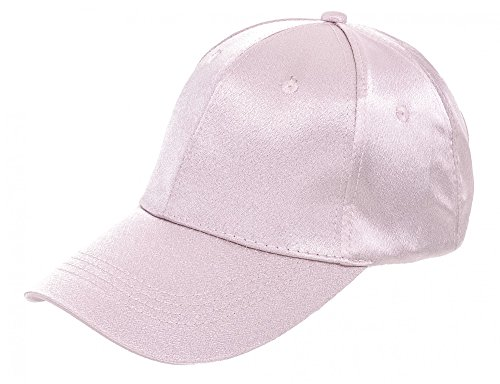 Kappe Basecap für Damen Baseballkappe Baseball Cap Mütze aus Satin von ESTABLISHED SEVENTY9, Farbe:Schwarz