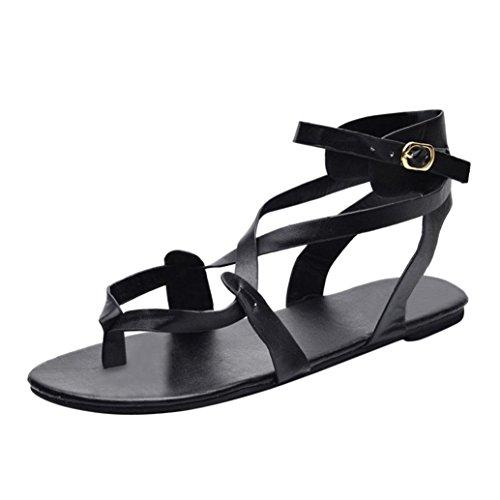 Sandalias mujer verano 2018, Covermason Las sandalias de las señoras cruzan los zapatos casuales de la correa romana