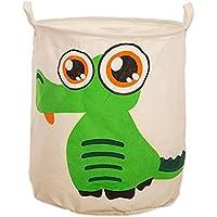 GZHOUSE lavandería cesta bolsa de almacenamiento cestas de almacenamiento de lona plegable cesta de almacenamiento para juguetes ropa infantil como un para la colada