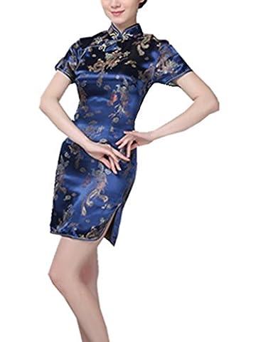 YICHUN Femme Robe Moulante Courte Robe de Soirée Cheongsam Qipao