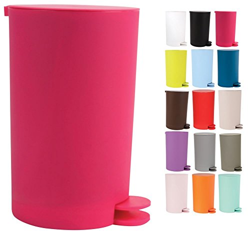 MSV Kosmetikeimer 'Osaki' Mülleimer Treteimer Abfalleimer - 3 Liter – mit herausnehmbaren Inneneimer - Pink