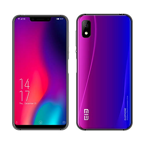 Móviles, Elephone A4 Pro 4G LTE Android 8.1 Smartphone,Dual Sim, 64GB ROM 4GB RAM 16MP + 8MP, 5.85 Pulgadas (Nebulosa)