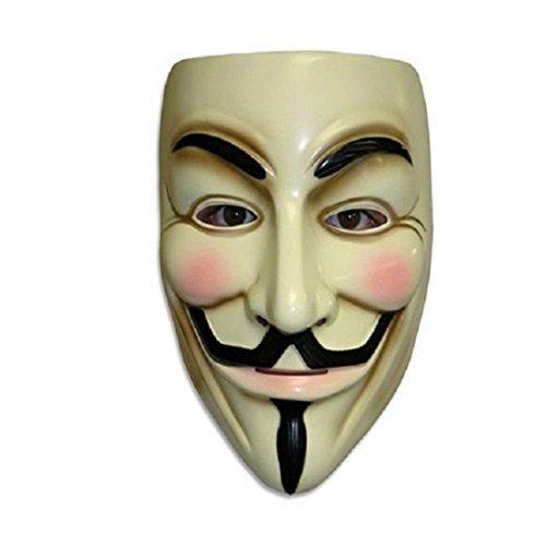Kostüm Fawkes Dress Guy Fancy - V für Vendetta Maske Guy Fawkes Anonymous Fancy Cosplay Kostüm Zubehör für Halloween Masquerade Karneval Party Supplies Face Maske für Erwachsene Fancy Kleid