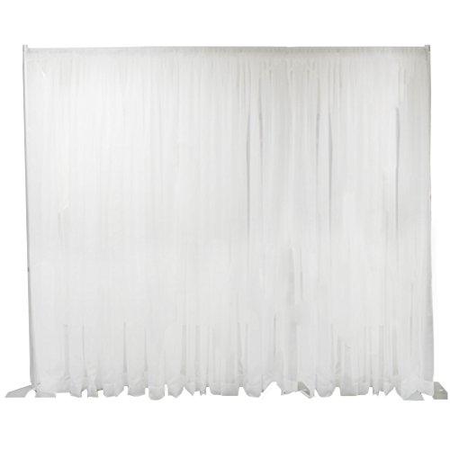 Rohr und Fall Sheer Hochzeit Hintergrund 100'W Hintergrund/, durchscheinende Stoff-Weiß Line Sheer