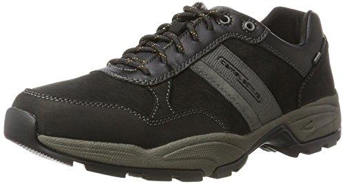 camel active Herren Evolution Sneaker, Schwarz (Black/Charcoal/Dk.Grey 4), 46.5 EU -