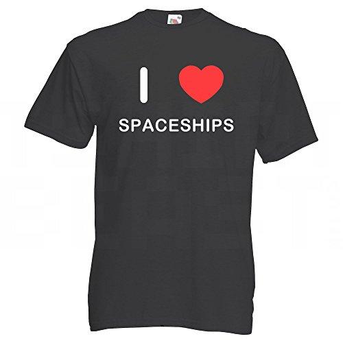 I Love Spaceships - T-Shirt Schwarz