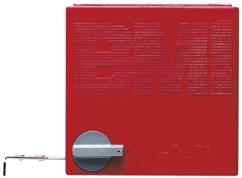 BMI 404241010 Taschenbandmaß In Out mit Innenmessung, Länge 2 m, weisslackiertes Band