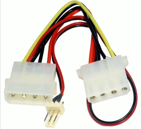 Alimentation Onvertisseur câble 4 Broches LP4 Molex Femelle Vers 3 Broches Ventilateur adaptateur