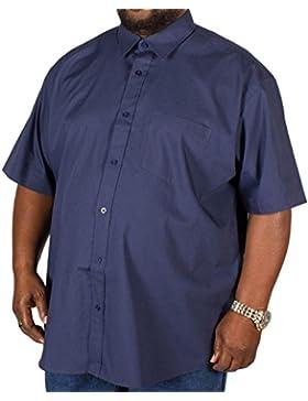 Big para hombre metáfora Plain azul marino de manga corta 3X L 4X L 5X L 6X L 7X L 8X L