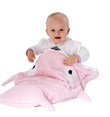 Frbelle® 100% Algodón Bolso de dormir para Cochecito Saco de Dormir de Bebé Diseño con Tiburón Manta para envolver Bebé Recién Nacido 0-36 meses para Otoño Invierno Primavera Tamaño 73cm x 98cm
