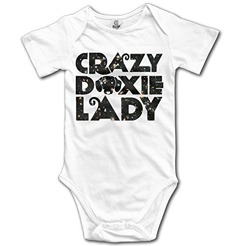 064021964d Dog Lover Rnin Crazy Doxie Lady Funny Newborn Infant Fashi.