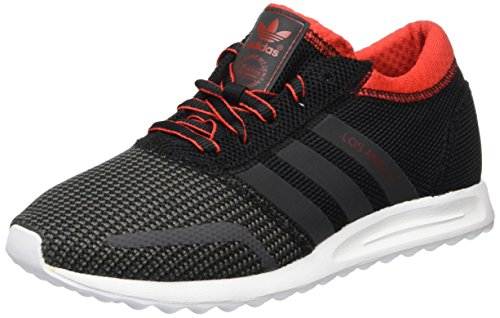 adidas Los Angeles, Baskets Basses Mixte Adulte Noir (Core Black/Dgh Solid Grey/Red)