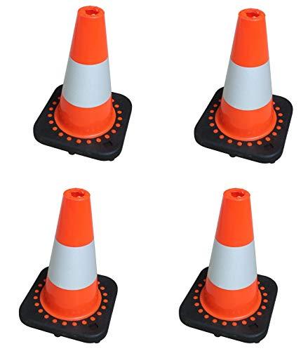 TC 30Fx4 Set di 4 flessibili di traffico Coni 30 centimetri