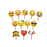 Emoji Photo Booth Props Party Favor DIY Kit for Birthday Reunions Weddings Parties 12 PCS by Kayear
