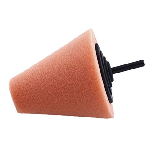Preisvergleich Produktbild Polierschaum-Schwamm-Polierkegel-geformte Polierkissen für Auto-Radnaben-Sorgfalt Orabge-Farben-Metallauflage-weiche Art