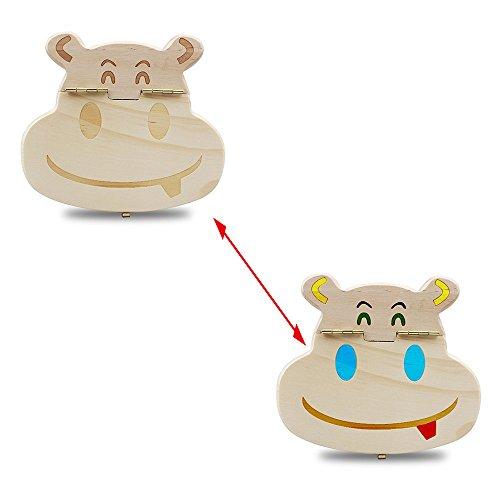 YA-Uzeun DIY Zahndose für Kinder, zum Ausmalen, Aufbewahren von Milchzähnen, Holz (Diy Einladung Kits)