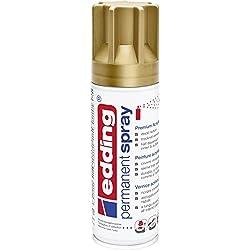 edding 5200 Permanent-Spray - reich-gold matt - 200 ml - Acryllack zum Lackieren und Dekorieren von fast allen Materialien z.B. Glas, Metall, Holz, Keramik, lackierb. Kunststoff, Leinwand - Sprühfarbe