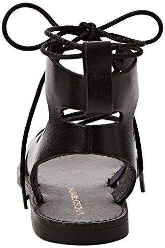 Windsor Smith Baby Leather, Scarpe Col Tacco con Cinturino a T Donna Nero