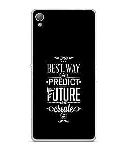 PrintVisa Designer Back Case Cover for Sony Xperia XA :: Sony Xperia XA Dual (Graphic Design Backcover Wallpaper Idea Concept Discovery Black)