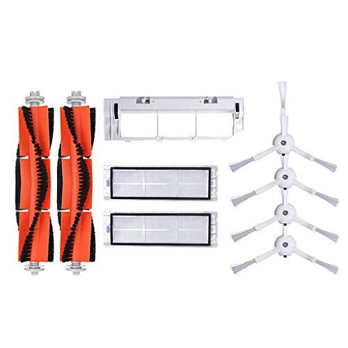 ◕‿◕ Chshe - Robot Aspirapolvere, ❤ Pezzi Di Ricambio Per Aspirapolvere Adatti Per Il Robot Xiaomi, Include La Spazzola Principale Hepa Filter Virtual Wall Side