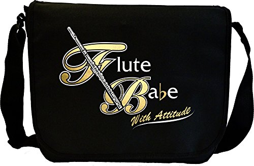 Flute Babe Attitude - Sheet Music Document Bag Musik Notentasche MusicaliTee