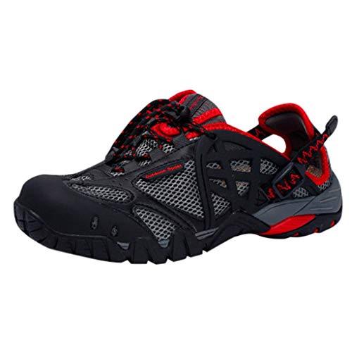 ASHOP Outdoor Fitnessschuhe,Walkingschuhe,Sommer- Und Outdoor-Sportbekleidung FüR Herren, Die Schnell Trocknend Ist Und Leichte, Vielseitige, Atmungsaktive Upstream-Schuhe Mit Rutschfesten Sandalen