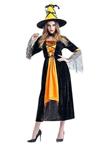 loween Kostüme Rollenspiel Hexe Cosplay Allerheiligen Kleider Gelb (Meerjungfrau-kostüme Für Halloween Selbstgemacht)