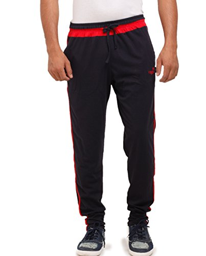 vego men's Navy-Red cotton Track pant (HP-333-Navy-Red-42)