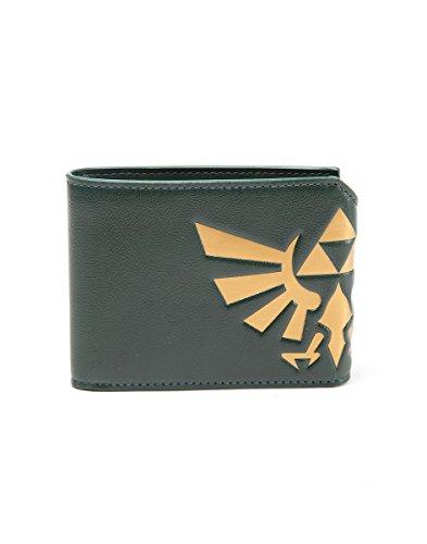 Bioworld NINTENDO Legend of Zelda Hyrule Royal Crest Bi-Fold Wallet Münzbörse, 17 cm, Grün (Green)