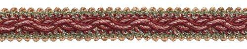 7Yard Pack-Rot, Light Rose barock Collection Gimp Braid 7/20,3cm Stil # 0078bg Farbe: Rose Bouquet-7953 -