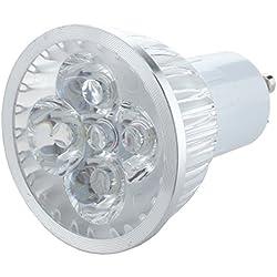 Sonline Bombilla Lampara GU10 4 LED Luz Blanco 4W 7000K Bajo Consumo Oficina