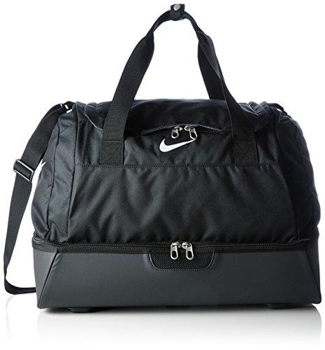 Nike Club Team Swoosh Hardcase M Bolsa de deporte, 47 cm, 62 liters, Negro (Schwarz/weiß)