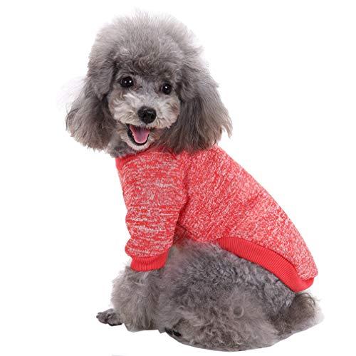 mama stadt Kleidung für Kleine Hunde,Warme Pullover Stricken Herbst Winter Puppy Yorkshire Chihuahua Welpe Mantel,Größe ()