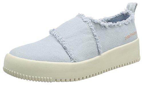 Calvin Klein Jeans Dale Fringe Canvas, Sneakers Basses Femme, Rosa