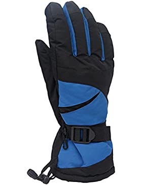 Zhhlaixing Adult Mens Waterproof Professional Ski Gloves Outdoor Sport Winter Warm Gloves