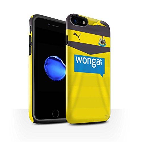 Offiziell Newcastle United FC Hülle / Glanz Harten Stoßfest Case für Apple iPhone 7 / Tioté Muster / NUFC Trikot Home 15/16 Kollektion Torwart