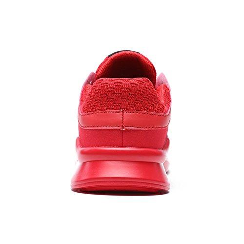 Senbore Scarpe da Atletica Leggera Uomo Grigio Grey 42 EU Red