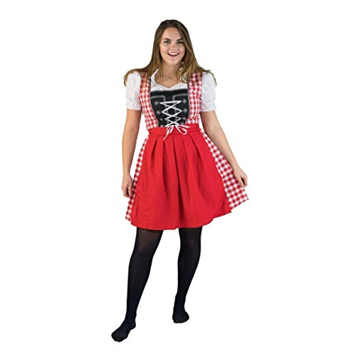 Bodysocks Fancy Dress 5060298049001 Kostüm, Unisex Adult, mehrfarbig, - Bier Frau Kostüm